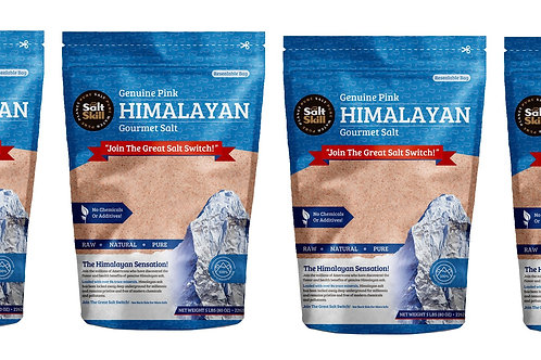 4 Pack - Himalayan Salt Fine Grain 5lb Bag