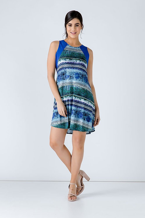 Royal Blue Print Dress