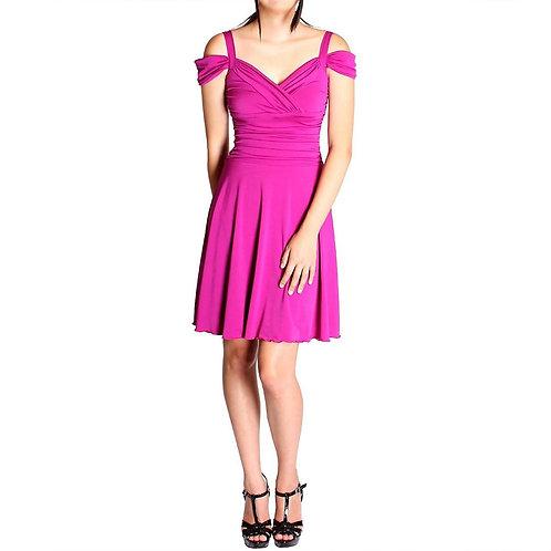 Evanese Women's Plus Size Elegant Short Dress With Shoulder Bands