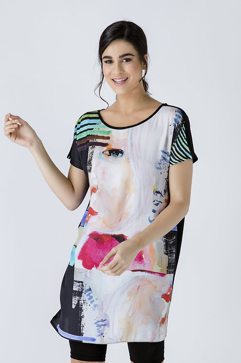 Sleeveless Loose Fitting Print Dress