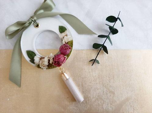 White Garden Rose Glossy Air Freshener