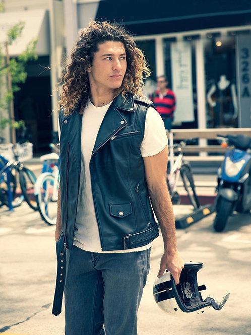 Men's Jax Ultimate Lambskin Leather Vest - Clearance