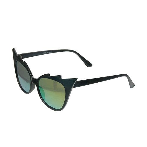Black Jagged Edge Sunglasses