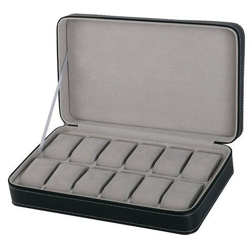 2/6/10/12 Girds Leather/Carbon Fiber Watch Box
