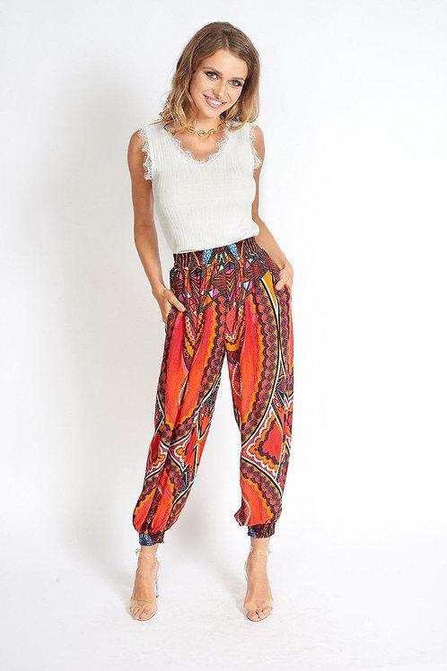 Boho Yoga Hippie Pants Red
