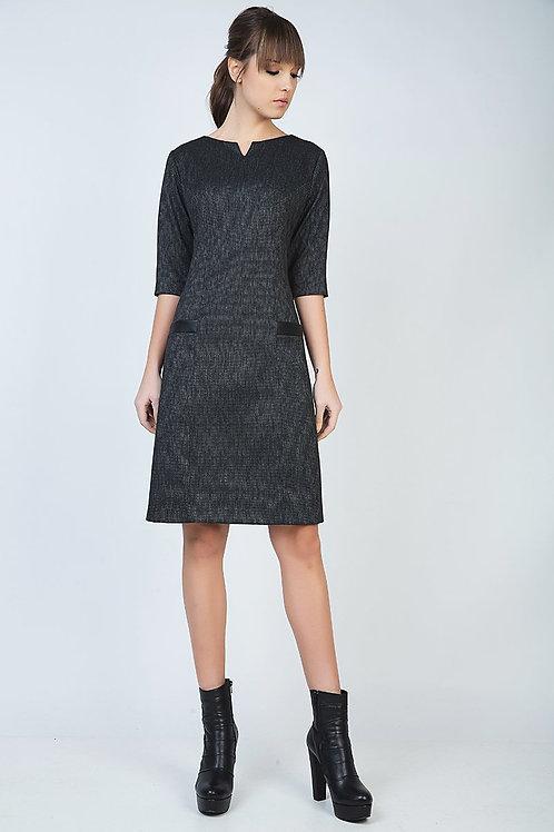 A Line Elbow Sleeve Dress
