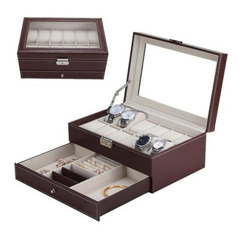 12 Grids Slots Professional Watches Storage Box