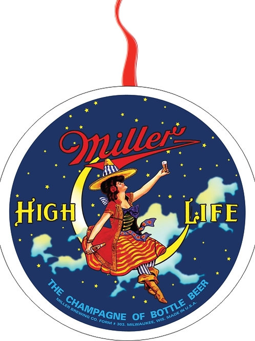 Christmas and holiday ornament Miller life high life beer