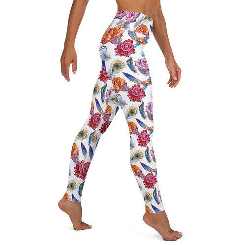 Boho Floral High Waist Yoga Leggings