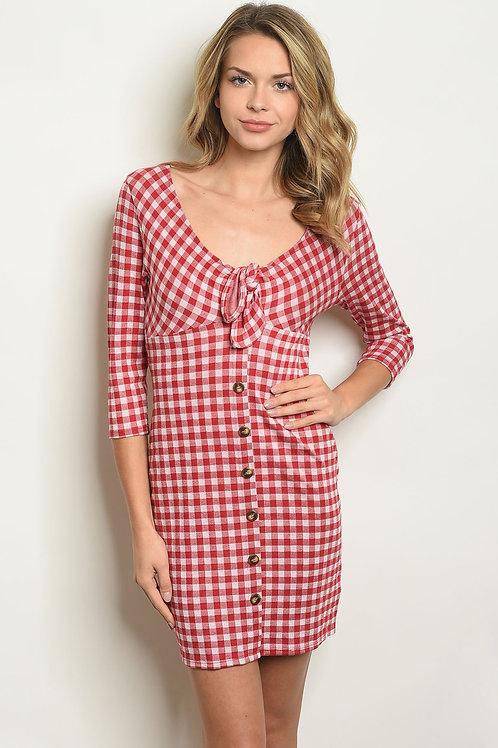 Womens Checkered Dress