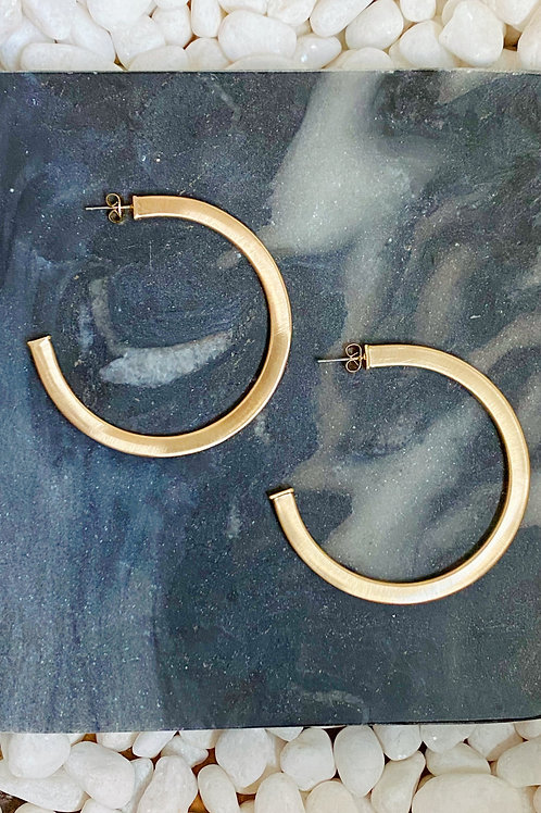 Overall Luxe Round Hoop Earrings