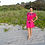 Thumbnail: Bohemian Pink Dress with Flowers