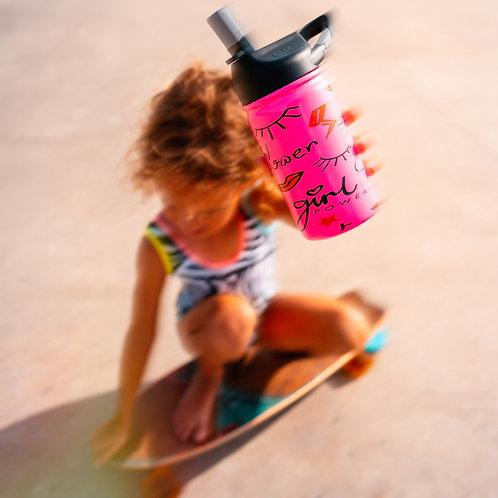 12 oz. lil SIC Girl Power Pink Bottle