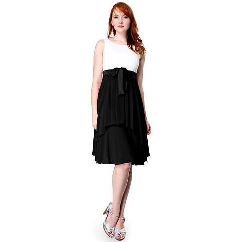 Evanese Women's Cute Sleeveless Fit and Flare Pleated Knee Length Cocktail Dress