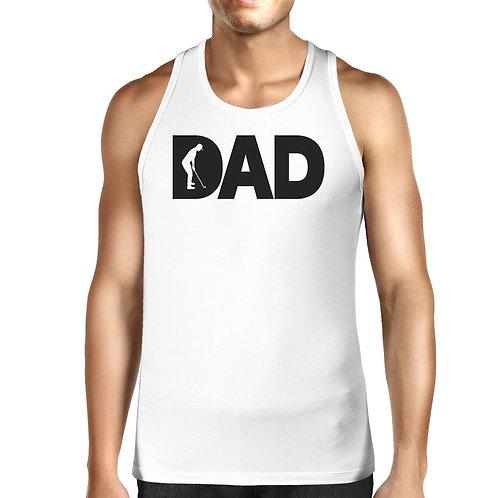 Dad Golf Mens White Graphic Tanks Unique Design
