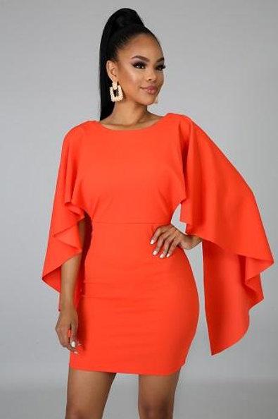 Vittoria Orange Dress