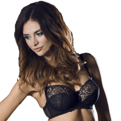 Full Figure Semi Sheer Lace Bra Caprice Obsession