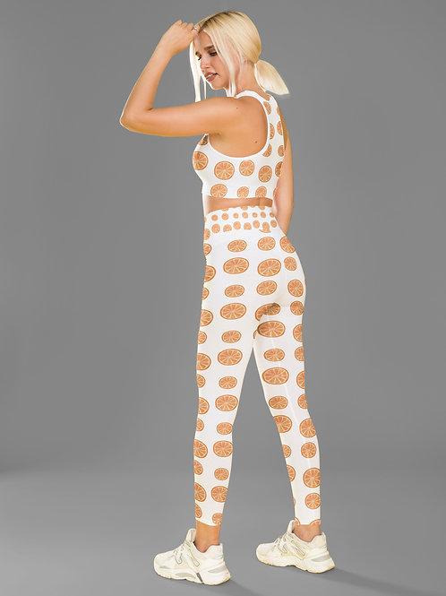 Orange Print Fitness Set