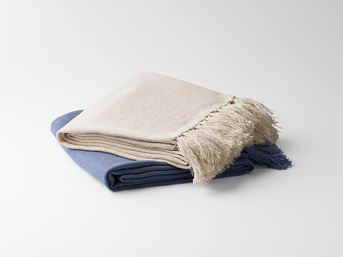 100% Fine European Linen Throw Blanket