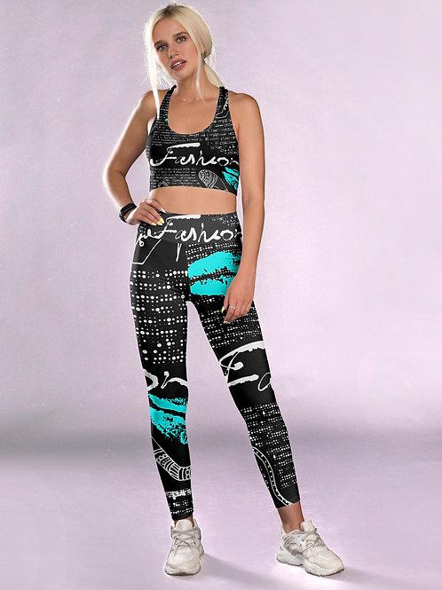 Black Fashion Fitness Set