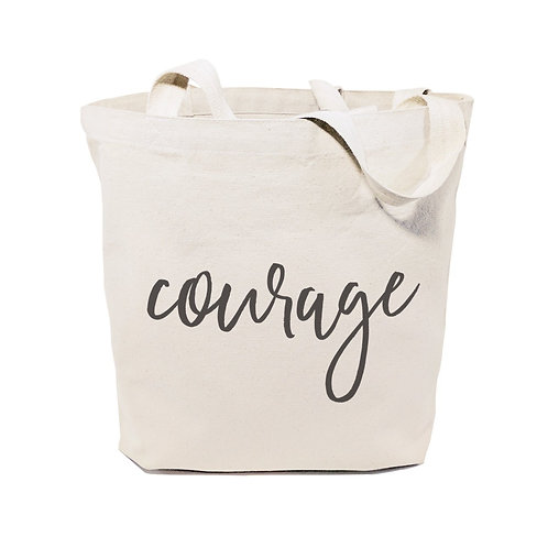 Courage Gym Cotton Canvas Tote Bag