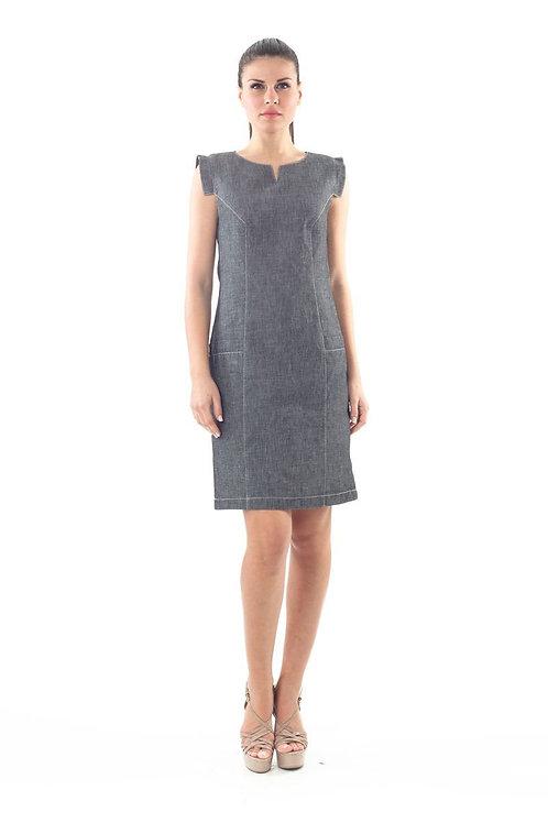 Denim Look Shift Dress