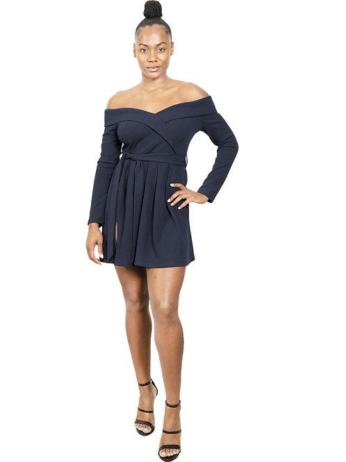Royalton Off-Shoulder Long Sleeve Mini Dress