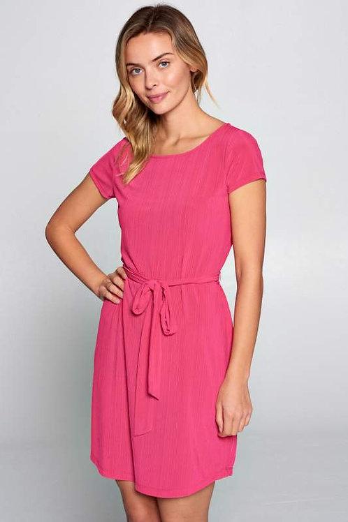 Fuschia Soft Knit Textured Dress