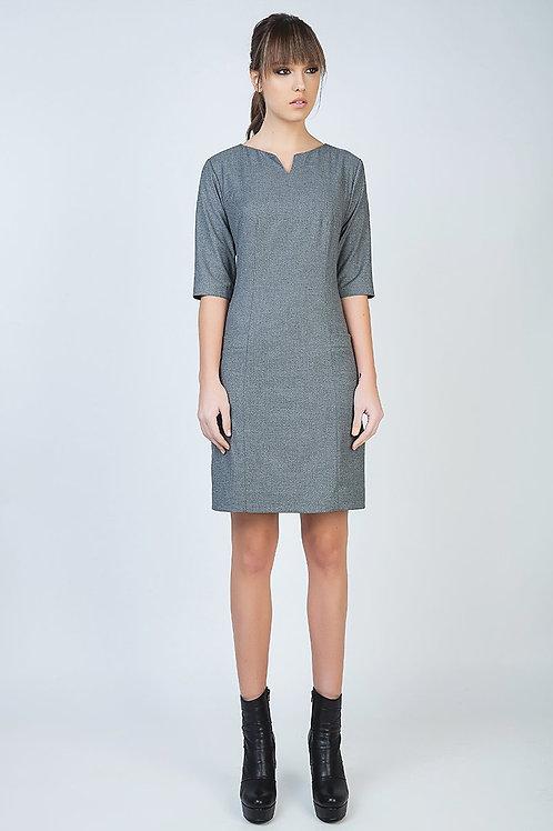 Elbow Sleeve Straight Tailored Dress