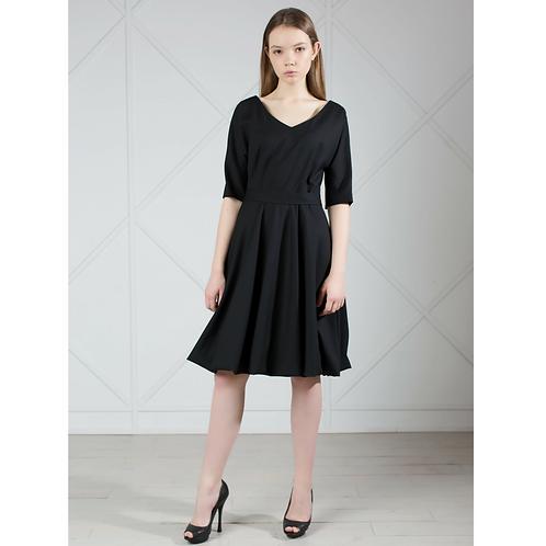 Black Elegant Wool Dress