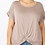 Thumbnail: All knotted up short sleeve top in ash mocha