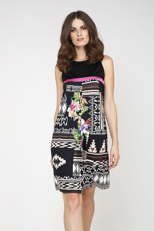 Sleeveless Jungle Print Dress