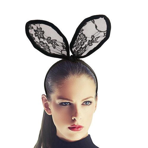 Black Lace Bunny Ears
