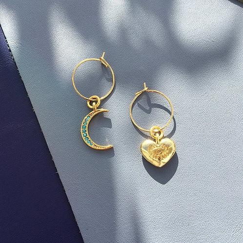 Crystal Moon Earrings