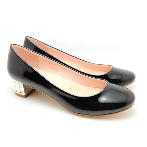 Rhinestones Heel Dress Pumps (Dark)