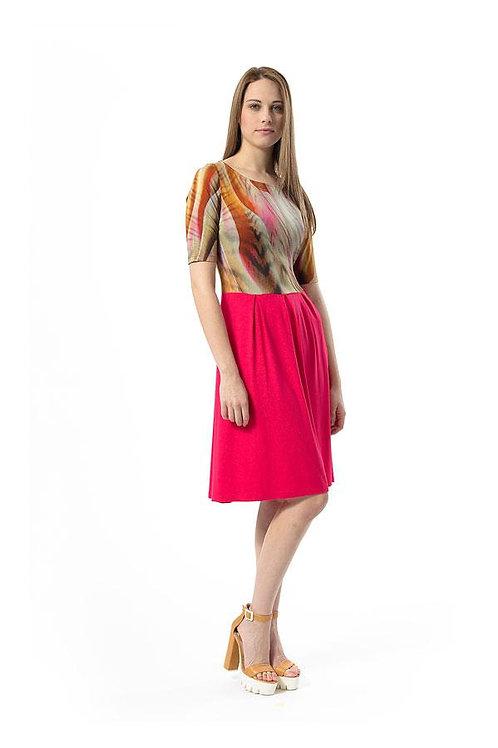 Abstract Animal Print Dress