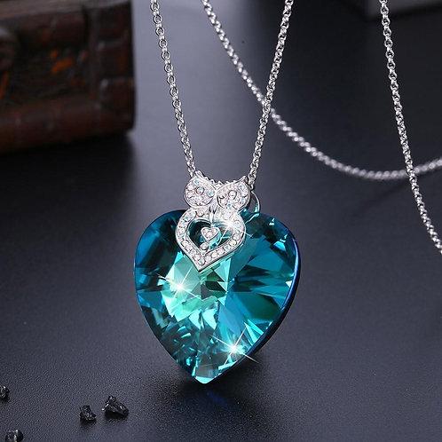 5.55 CT Heart Diamond Cut Galore Sterling Silver Swarovski Crystal