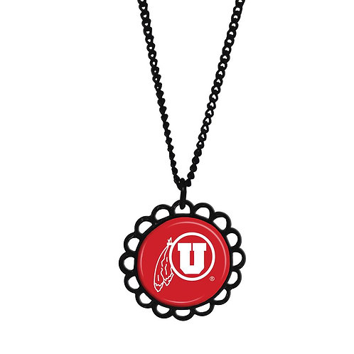 University of Utah Domed Necklace