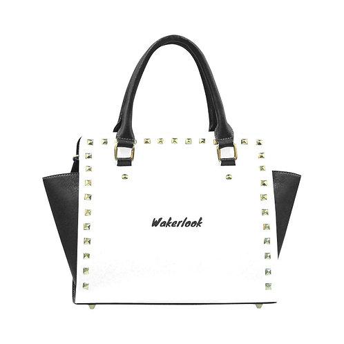 White Rivet Shoulder Wakerlook  Handbag