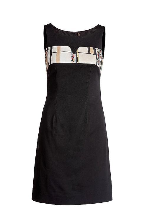 A-Line Print Detail Dress