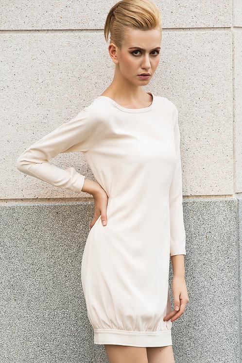 Vanilla Macaroon Oversized Dress