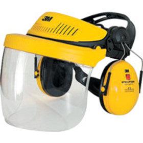 3M PeltorG500 Industrial Headgear VISOR, Optime II Ear Muff