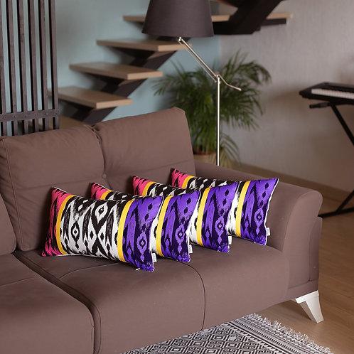 Ikat Decorative Lumbar Throw Pillow Cover (Set of 4)