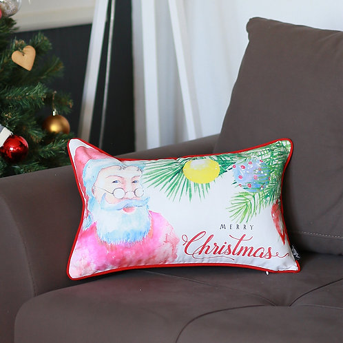 Christmas Santa Lumbar Throw Pillow Cover
