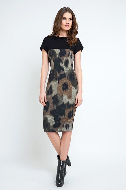 Abstract Print Straight Dress