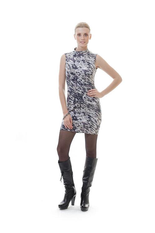 Animal Print Stretch Mini Dress