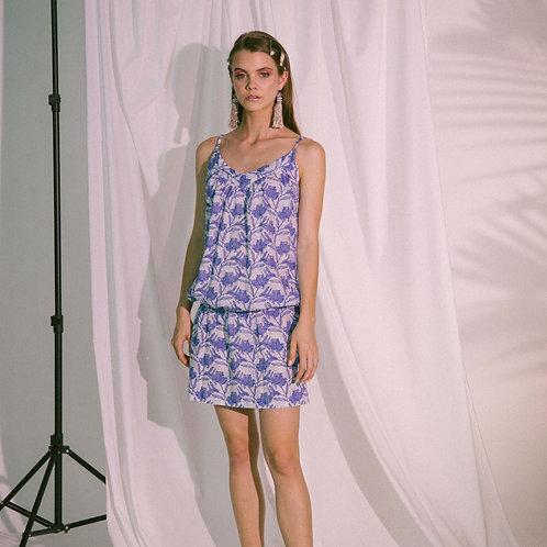 Ludus Beach Dress in Blue Biro