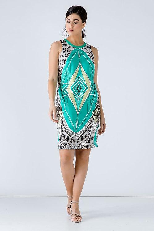 Animal Print Sleeveless Dress