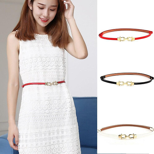 Womail Fashion Women's Leather Belt New Style Solid Colors Luxury