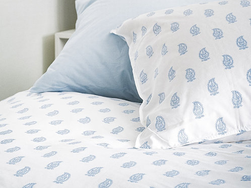 100% Supima Cotton, 500 Thread Count Sateen Paisley Print Sheet Set